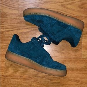 Shoes - Air Force 1 suede teal